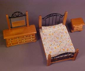 Townsquare Fancy Bedroom Set, Miniature 1:24 scale