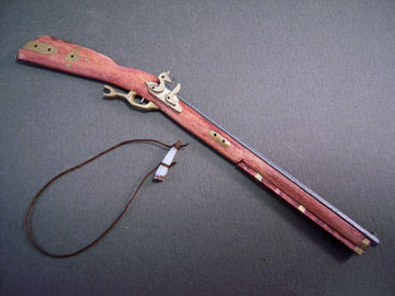 Handcrafted Pennsylvania Flintlock Rifle 1:12 scale