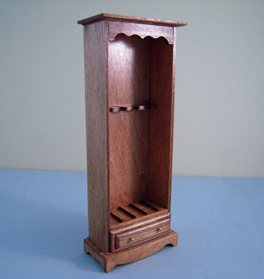 Handcrafted Walnut Rifle Cabinet 1:12 scale