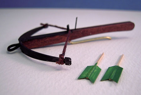 Miniature Handcrafted Medieval Cross Bow 1:12 scale