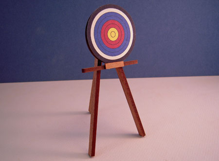 Miniature Handcrafted Terry Harville Target 1:12 scale