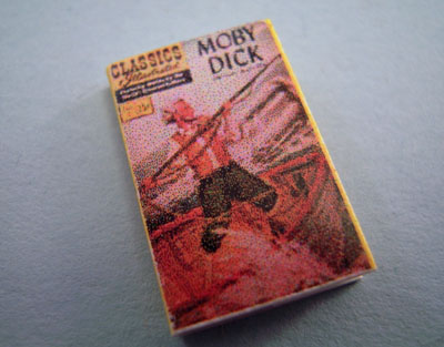 """1"""" Scale Artisan Miniatures Hand Crafted Printed Book """"1950's Moby Dick"""""""