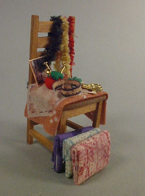 Taylor Jade Filled Rustic Sewing Chair 1:24 scale
