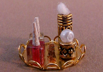 Taylor Jade Miniature Handcrafted Nail Polish Tray 1:12 scale