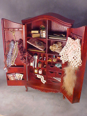 Victorian Sewing Hutch 1:12 scale