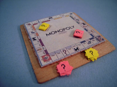 Taylor Jade Handcrafted Wooden Monopoly Board 1:12 scale
