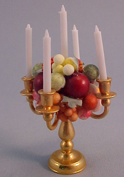 Taylor Jade Handcrafted Fruit Candlelabra 1:12 scale