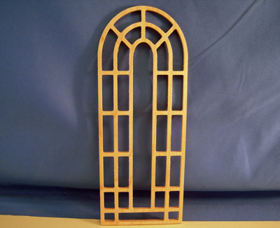 Unfinished Outdoor Garden Trellis 1:12 scale