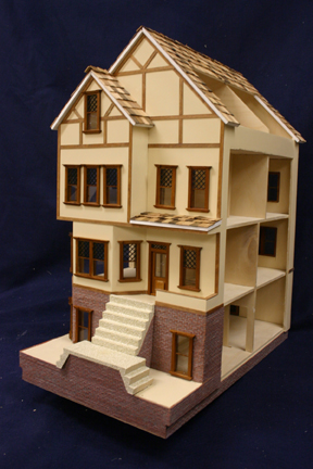 Majestic Mansions Brookhaven Manor Dollhouse Kit 1:24 scale