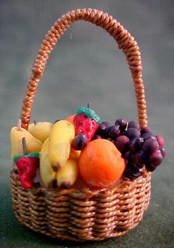 Filled Fruit Basket 1:12 scale