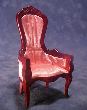 Townsquare Pink Victorian Gent's Chair 1:12 scale