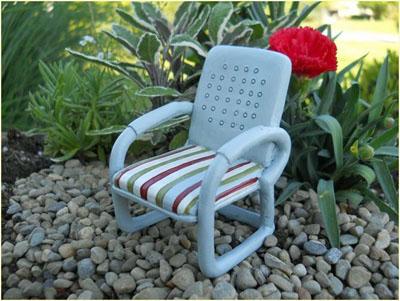 Fairy Garden Vintage Metal Looking Chair 1:12 scale