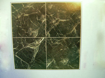 World Model Green Faux Marble Floor Tile 1:24 scale