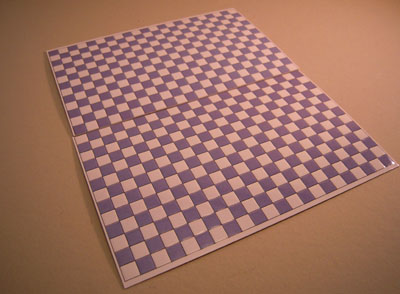 World Model Light Blue Checked Faux Wall or Floor Tile 1:24 scale