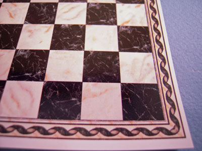 White and Black Check Faux Marble Tile 1:24 scale