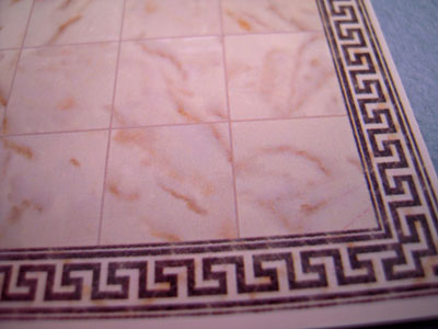 White Faux Marble Tile 1:24 scale