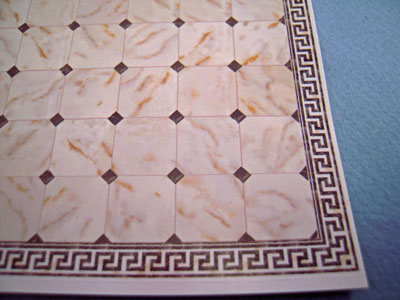 White with Black Faux Marble Tile 1:24 scale