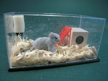 Miniature Alice Zinn Chinchilla Tank 1:12 scale