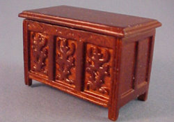 "1/2"" Scale Tudor Chest by John Baker"