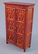 "1/2"" Scale Tudor Linen Press by John Baker"