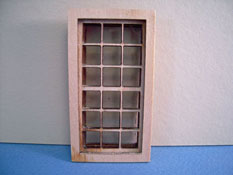 "Alessio Miniatures 1/2"" Scale Traditional Nine Over Nine Window"