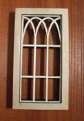 "Alessio Miniatures 1"" Scale Arched Non-Working Window"