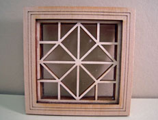 "Alessio Miniatures 1"" Scale Square and Diamond Non-Working Window"