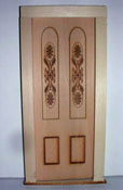 "Alessio Miniatures 1"" Scale Engraved Panel Exterior Door"
