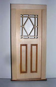 "Alessio Miniatures 1"" Scale Diamond Top Exterior Door"