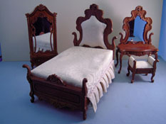 "Bespaq 1"" Scale ""Lady Lynne"" Four Piece Bedroom Set"