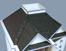 "1/2"" Scale What's Next Black Rectangular Textured Asphalt Shingles"