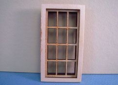 "Alessio Miniatures 1/2"" Scale Traditional Six Over Six Window"