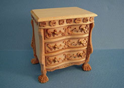 1:12 Dollhouse Unfinished Night Stand// Miniature Furniture AZ GW119
