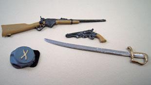 """1"""" Scale Miniature Island Crafts Confederate Civil War Set"""