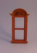 "Majestic Mansions 1"" Scale Miniature Walnut Newport Plain Single Window"