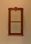 "Majestic Mansions 1"" Scale Miniature Walnut Mc Allister Carved Single Window"