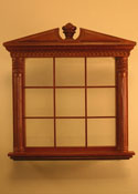 "Majestic Mansions 1"" Scale Miniature Walnut Corinthian Carved Double Window"