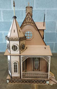 Laser Dollhouse Designs Jasmine Gothic Victorian Cottage Dollhouse Kit 1:12 Scale