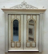 "Laser Dollhouse Designs 1/2"" Scale Miniature Classic Arched Lite Six Panel Double Door"