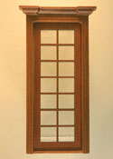 "Majestic Mansions 1"" Scale Miniature Walnut Classic Single French Door"
