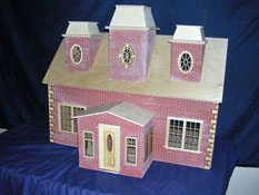 "Alessio Miniatures 1"" Scale Assembled Country Manor"