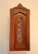 "Majestic Mansions 1"" Scale Miniature Walnut Pollinade Carved Single Door"