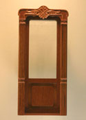 "Majestic Mansions 1"" Scale Miniature Walnut Mc Allister Carved Exterior Door"