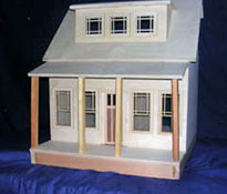 "Alessio Miniatures 1"" Scale Assembled Long Island Bungalow Dollhouse Kit"