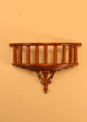"Majestic Mansions 1"" Scale Miniature Walnut Romeo Decorative Balcony"