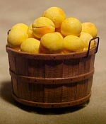 "1"" Scale Fresh Peaches In A Bushel Basket"