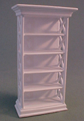 "Lee's Line 1/2"" Scale Miniature White Bookcase"