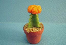 "1"" Scale Bright deLights Potted Orange Moon Cactus"