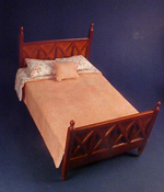 "Lee's Line 1"" Scale Ashley Double Bed With Comforter"