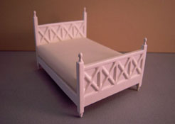 "1/2"" Scale White Double Bed by Lee's Line"